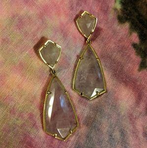 Kendra Scott Carey Earrings Amethyst/Gold
